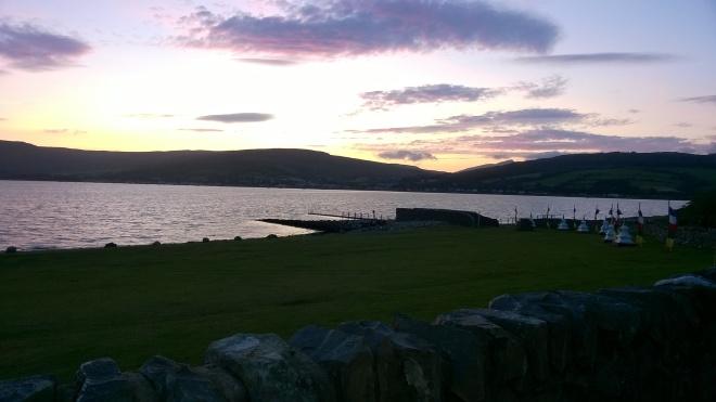 Holy Isle - looking onto Isle of Arran