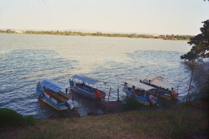 Boats on Lake Tana